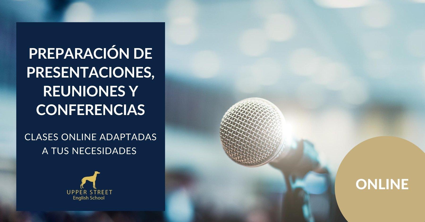 preparación presentaciones, reuniones y conferencias en inglés