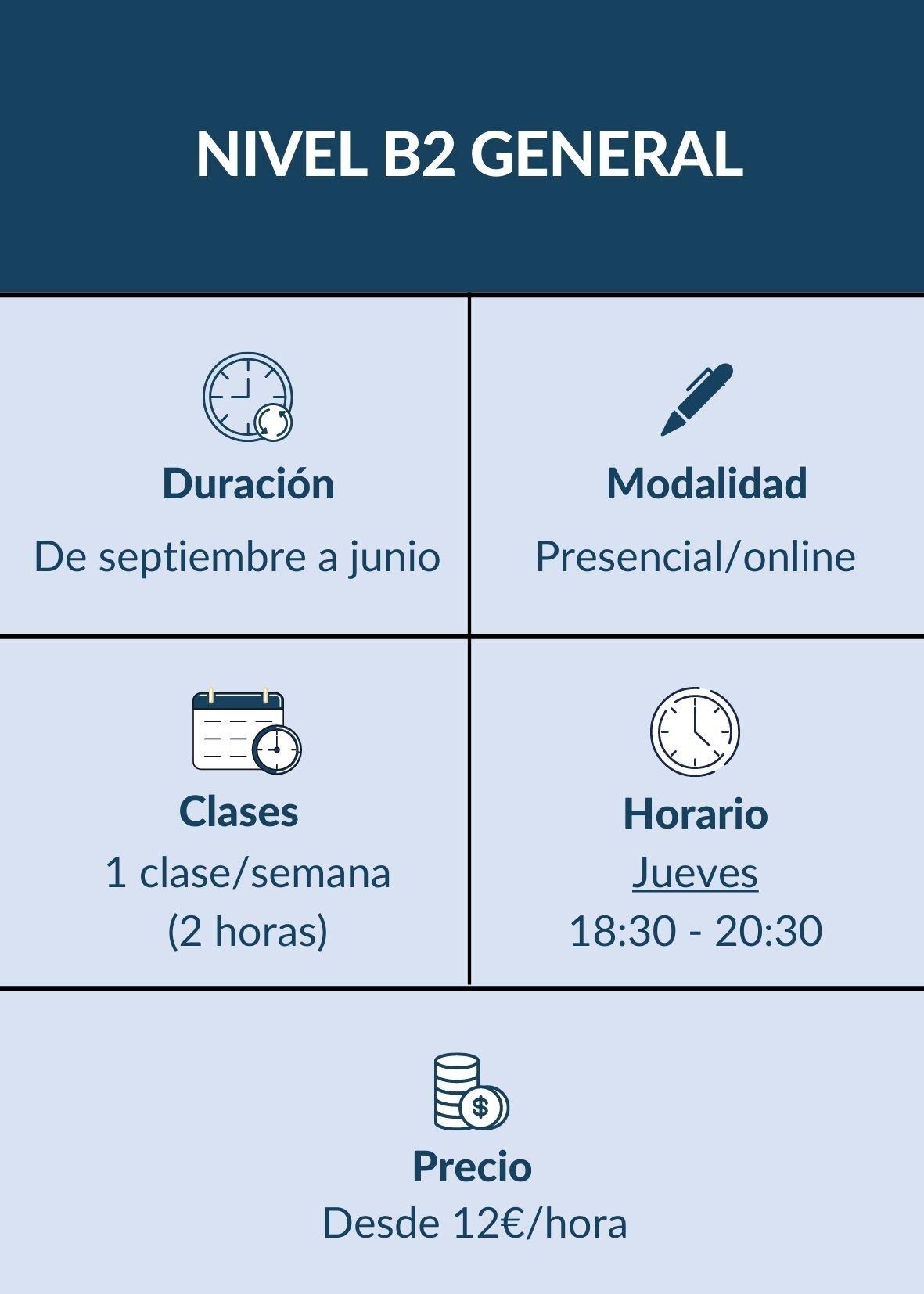 CURSO INGLÉS B2 GENERAL MADRID