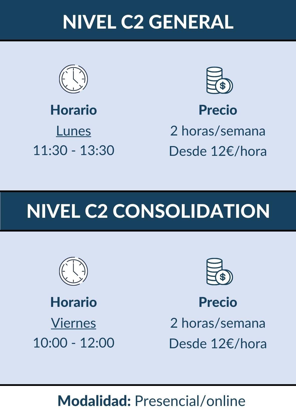 CURSO INGLES C2 MADRID HORARIOS